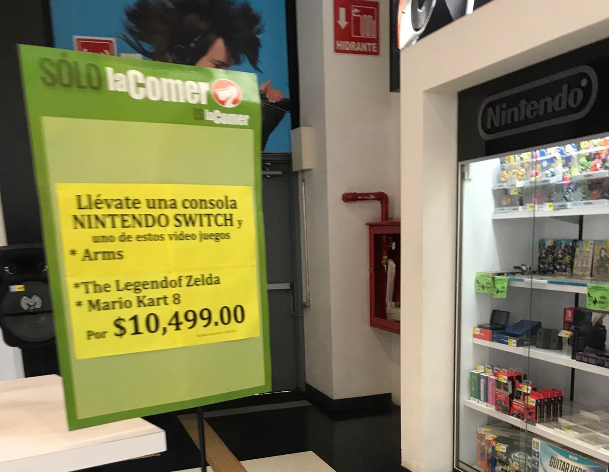 La Comer: lago Alberto Nintendo switch y 1 juego