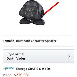 Amazon: bocina darth vader (incluye Prime)
