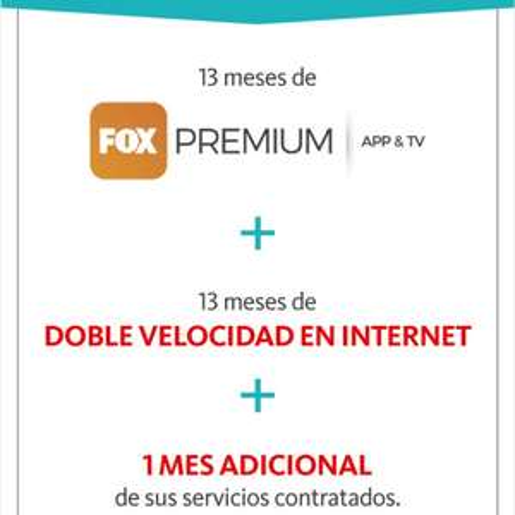 Megacable: 13 meses de Fox Premium + doble velocidad pagando anualidad con Santander
