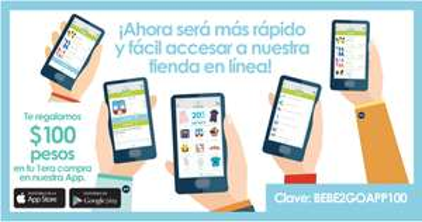 Bebe2Go: $100 de Descuento sin mínimo de compra en la app