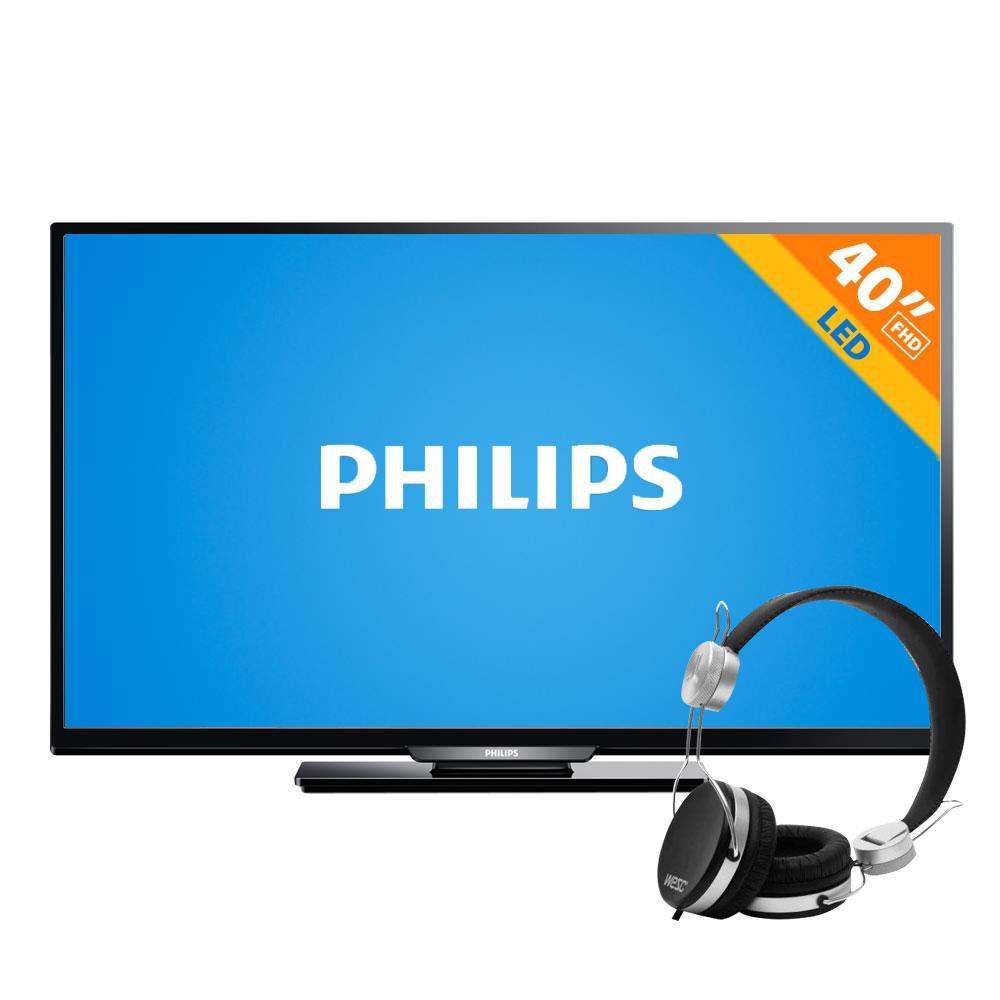 "Walmart: Pantalla LED 40"" Philips 60 Hz FHD 40PFL4409/F8 + Audífonos Wesc Banjar $4,990"