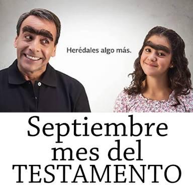 Septiembre mes del testamento Y AHORA TAMBIÉN OCTUBRE!!! . Testamento al 50%!! Llévelo, llévelo.