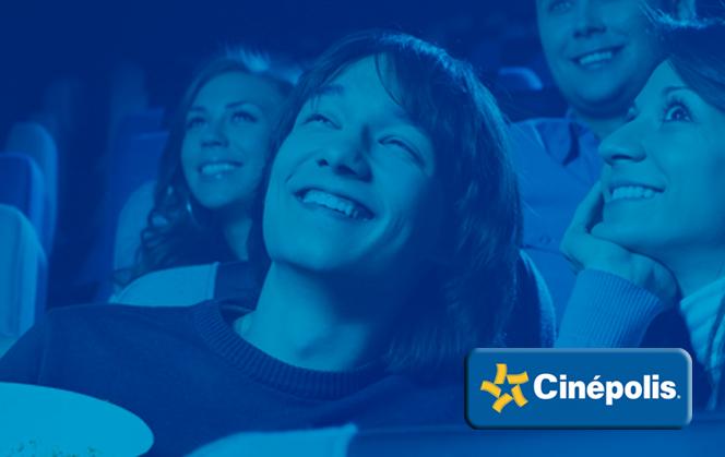 Cinepolis: Dos boletos gratis sala tradicional con clickonero y winbits (continua de la de arianna_rr)