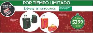 Soriana: Set de maleta y backpack Benetton en $599