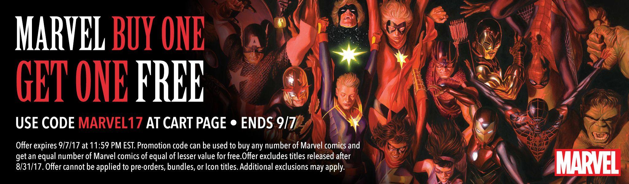 Comixology: 2 X1 en libros digitales de Marvel Comics