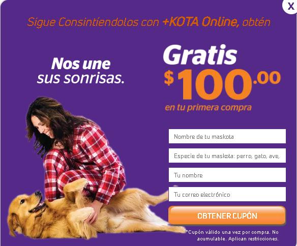 +Kota: Cupón de $100 al registrarte