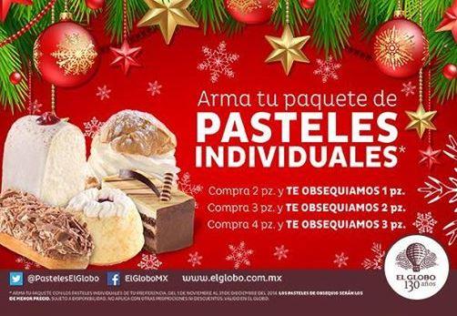 Pastelerías El Globo: 3x2, 5x3 ó 7x4 en pasteles individuales