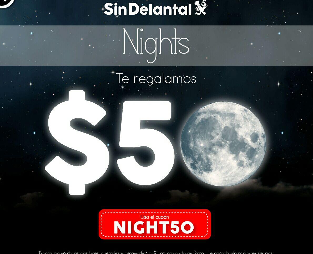 Sin Delantal: Cupón de $40 para tu cena de 6pm a 9pm