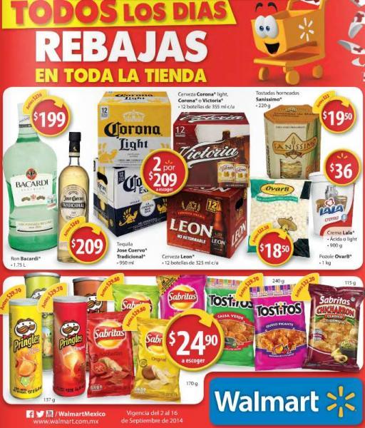 Folleto de ofertas en Walmart del 2 al 16 de septiembre