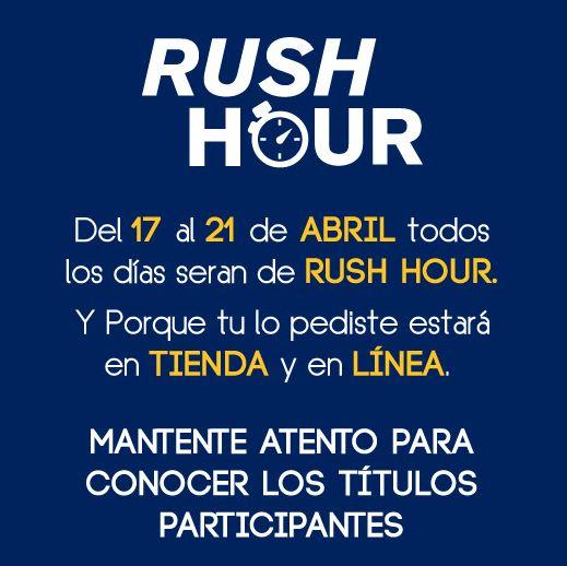 Blockbuster y Game Rush: rush hour todos los días del 17 al 21 de abril
