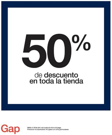 Gap: 50% de descuento en toda la tienda