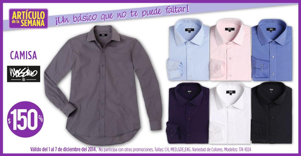 Artículo de la semana Suburbia:  camisa para hombre $150