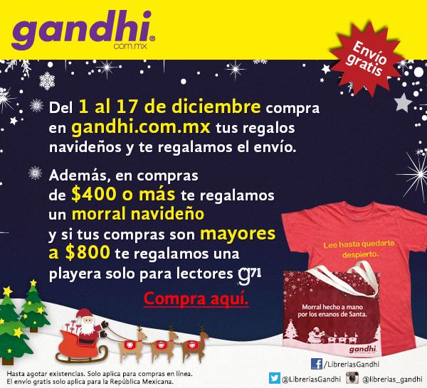Librerías Gandhi: envío gratis y regalos con compra mínima en tienda online