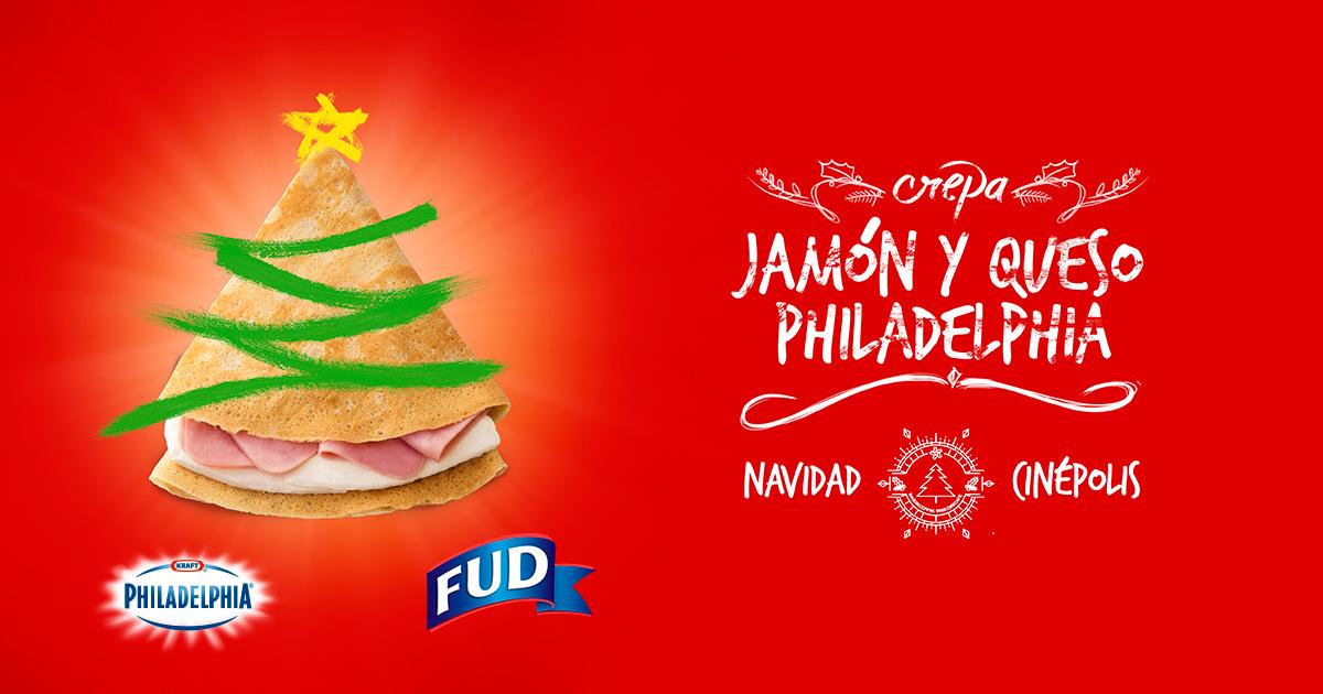 Día 1 regalo Cinépolis: Crepa con Jamón y Queso Philadelphia gratis
