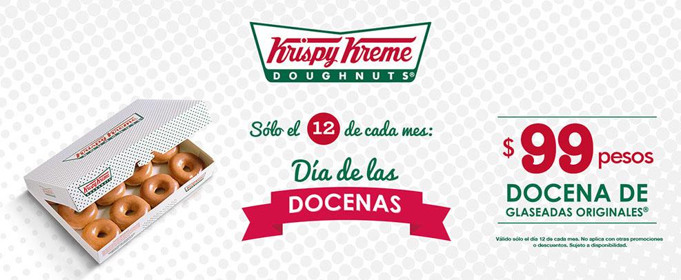 Krispy Kreme: Docena de glaseadas originales y 2x1 en bebidas preparadas