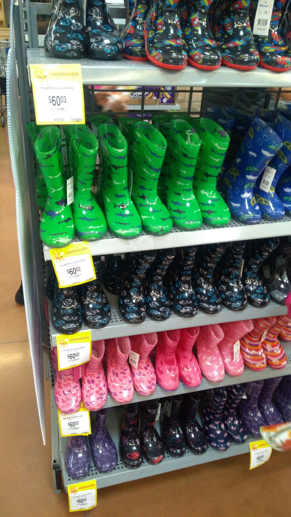 Walmart: Botas para lluvia niño y niña a $60.03