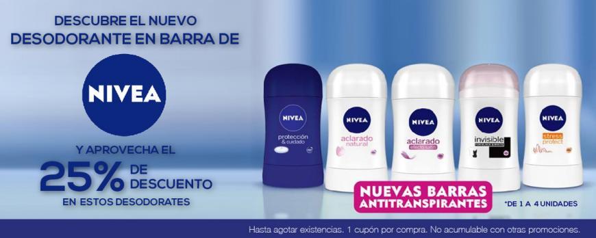 Chedarui Cuponcash: 25% de descuentos en desodorantes NIVEA