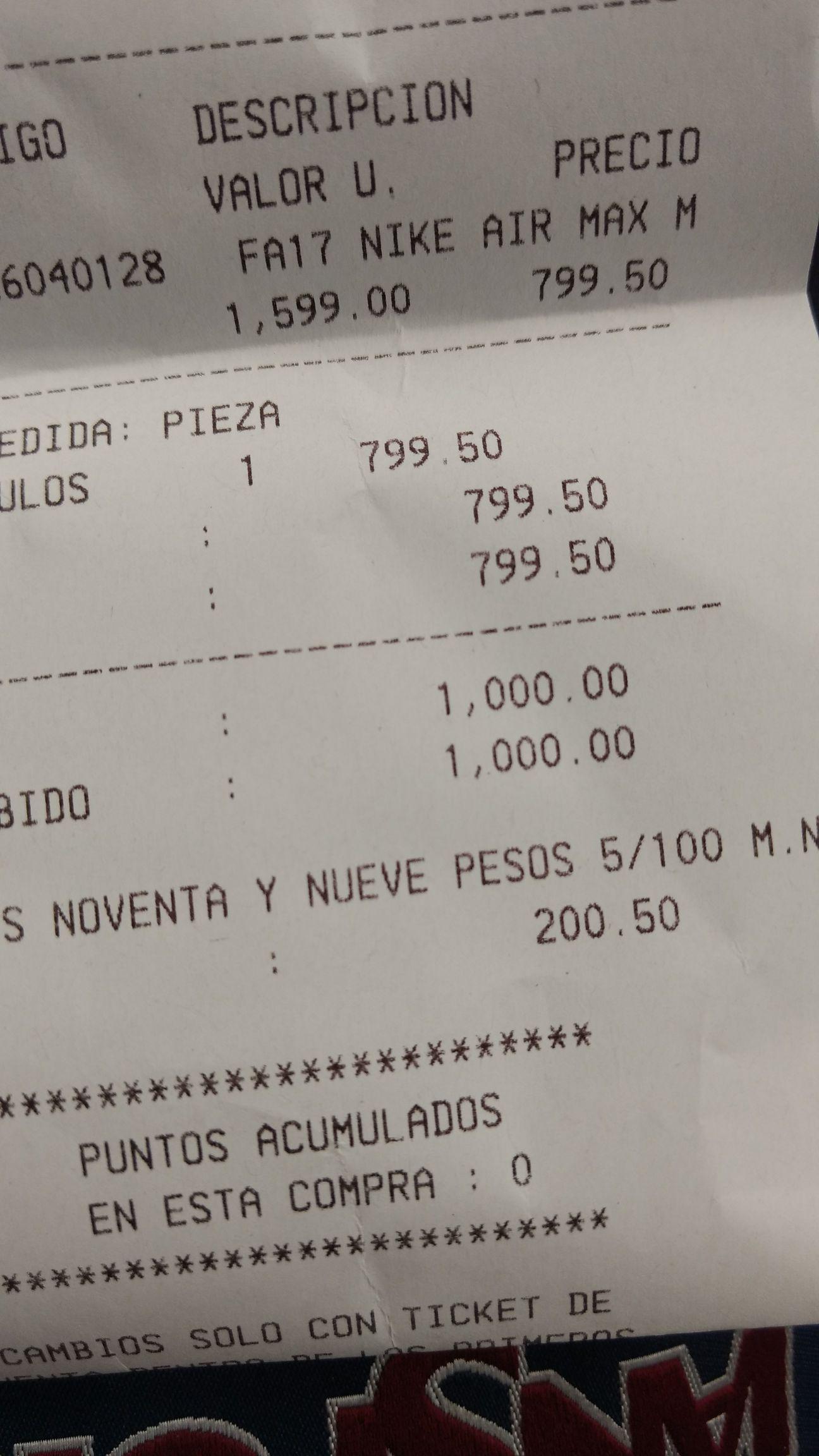 MisterTenis: Tenis a mitad de precio!! Nike Air a $799.50