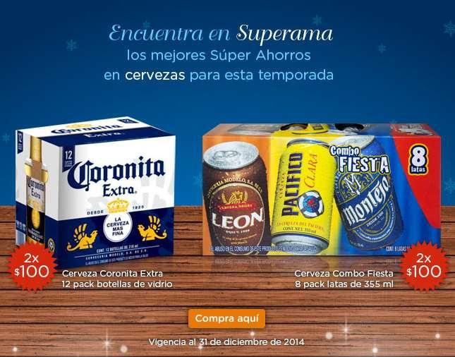 Superama: 24 Coronitas o Victoria 210ml ó 16 cervezas en lata 355ml por $100