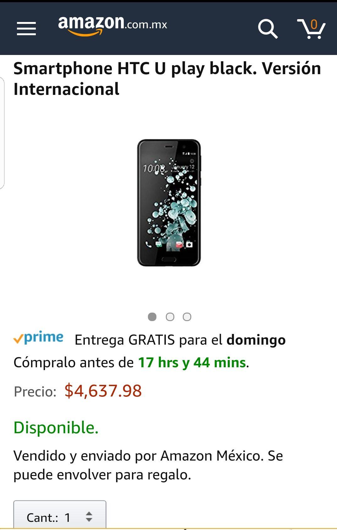 AMAZON: HTC U PLAY A PRECIO DE GANGA + 12 MSI
