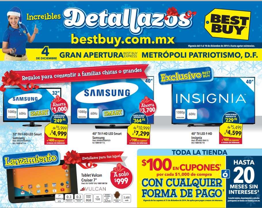 Folleto de ofertas de Best Buy del 4 al 10 de diciembre (incluye $100 de bonifiacación x cada $1,000)