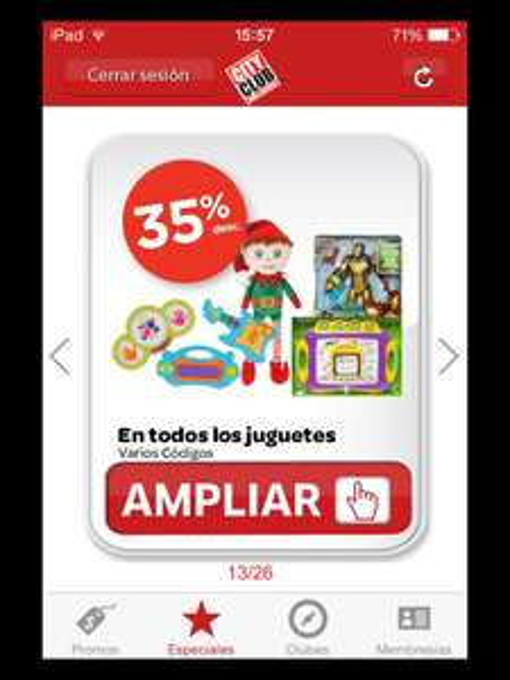 City Club: 35% de descuento en todos los juguetes y más en app iOS