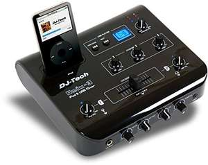 Amazon: Mezcladora y controladora DJ para iPod Tech UMIX-3 con Salida de Audio y video