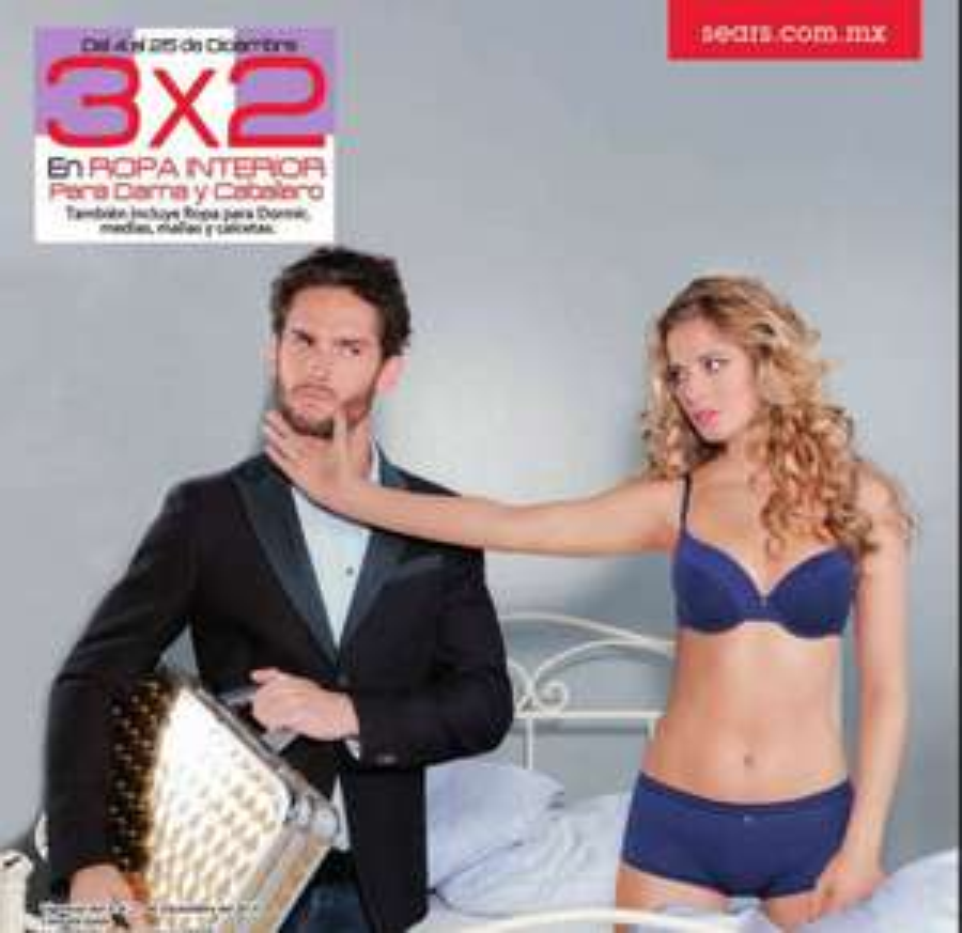 Sears: 3x2 en ropa interior pra hombre y mujer (incluye pijamas y medias)