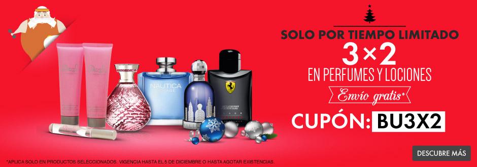 Linio: 3x2 en perfumes, lociones y artículos seleccionados