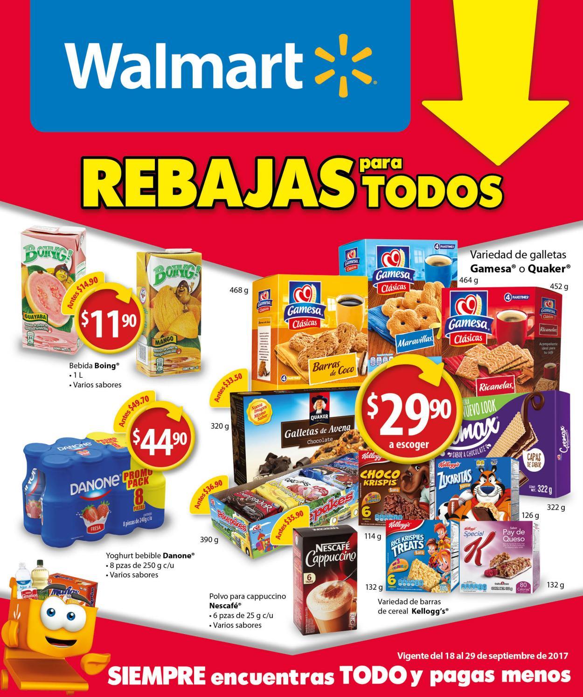 Folleto digital Walmart: del 18 al 29 de Septiembre del 2017