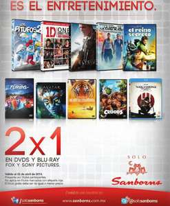 Sanborns y Sears: 2x1 en DVDs y blu-rays