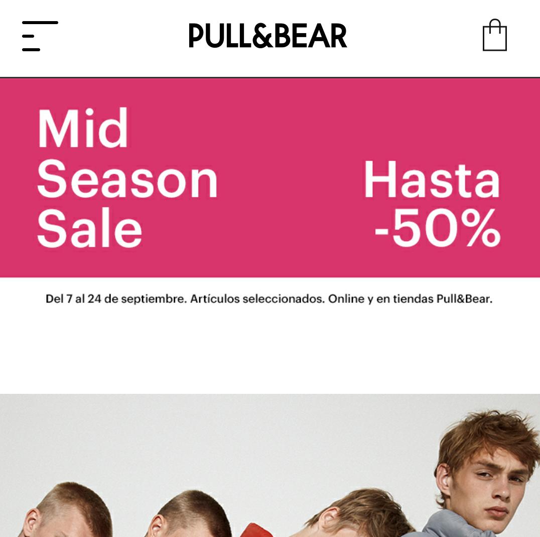 Pull&Bear: Hasta -50% en artículos seleccionados. Online y en tiendas