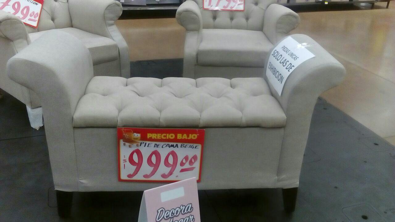 Walmart: Pie de cama beige a $999