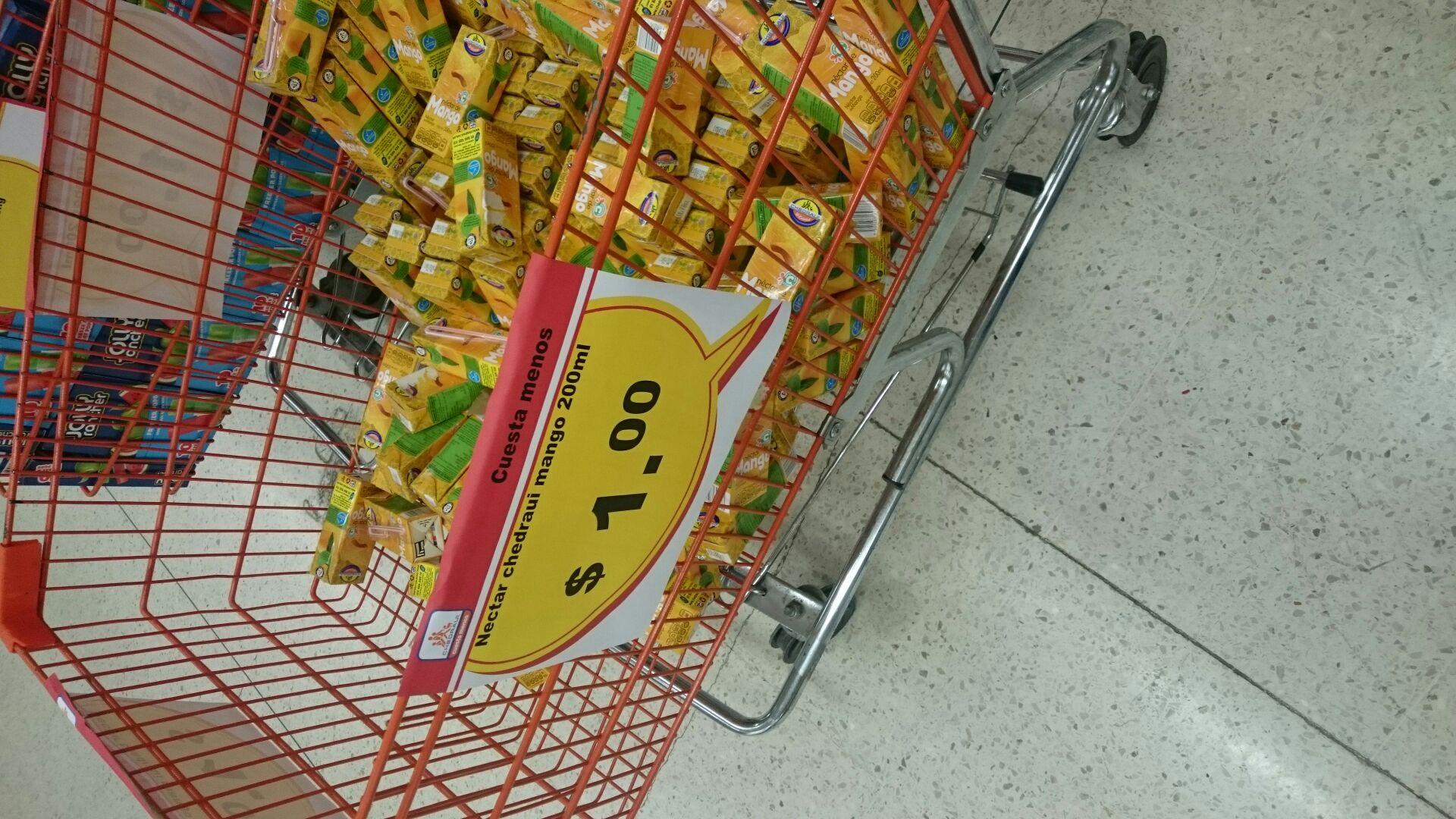 Chedraui Reforma Oaxaca: jugos de mango en liquidación