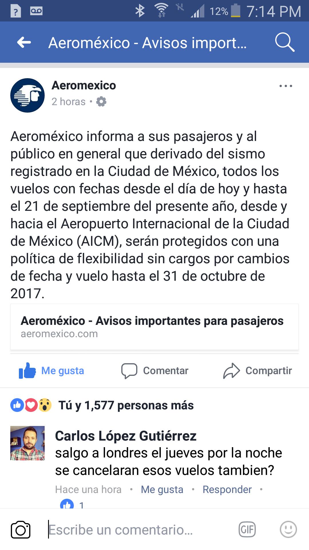 Aeroméxico vuelos protegidos sin cargos del 19 al 21 desde y hacia DF (AICM)