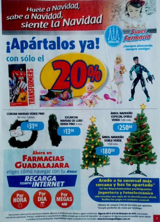 Folleto de ofertas de Farmacias Guadalajara del 1 al 15 de diciembre