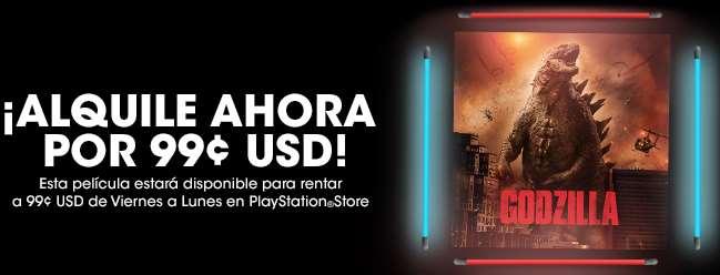 PlayStation Store: renta de películas Godzilla por 1 dólar