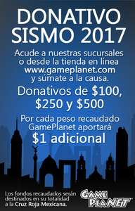 Donativo a traves de Game Planet