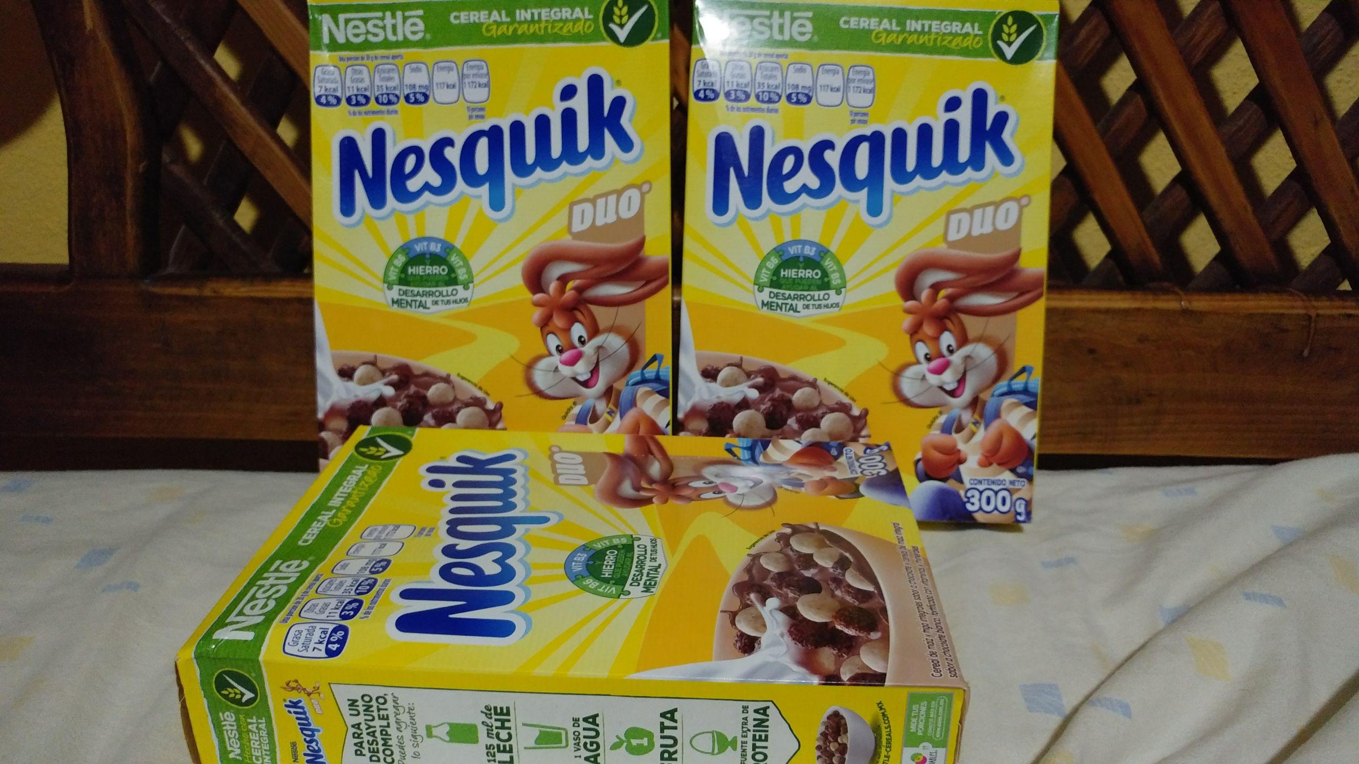 Walmart: Cereal Nesquik Duo 300 g. a $2.01
