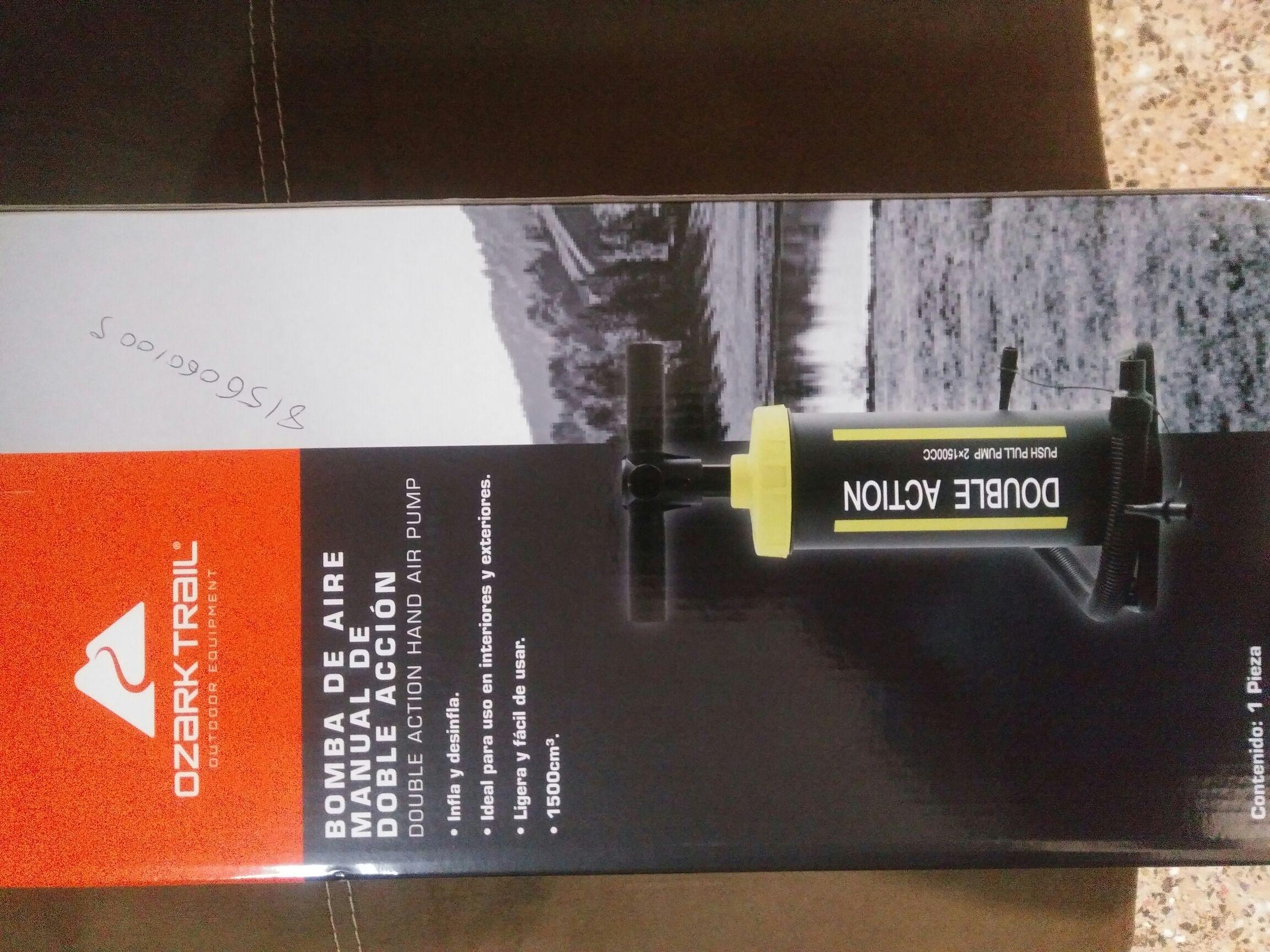 Bodega Aurrerá: Bomba de aire manual Ozark Trail Mas promorelato a $19.01