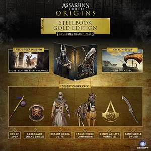 Amazon: Assassin's Creed Origins Steelbook Gold Edition PS4 y Xbox One