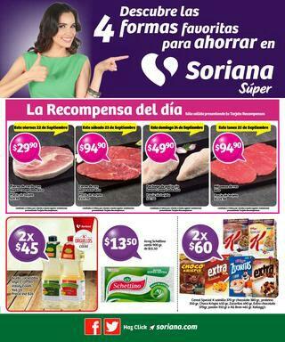 Soriana Súper. Recompensas del fin de semana y otras promociones (vigente al 28 de septiembre)