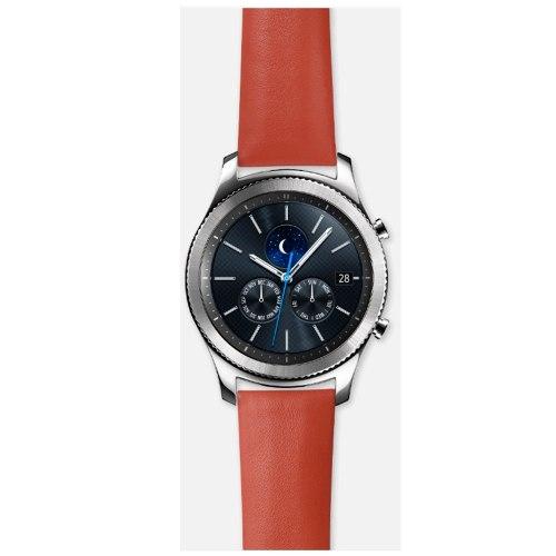 Tienda Samsung MercadoLibre: Bandas Pulseras Para Gear S3 Strap Nappa Naranja Acce Samsung