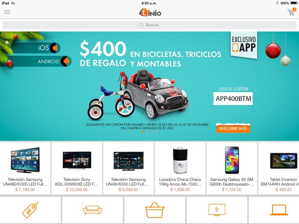 Linio app: $400 de descuento en bicicletas, triciclos y montables (app)