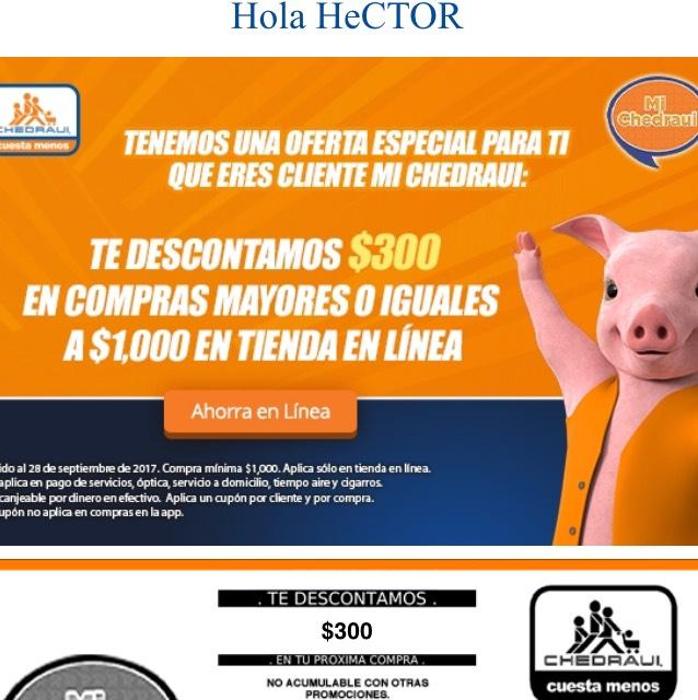 Chedraui: $300 de descuento por cada $1,000 en tienda en línea