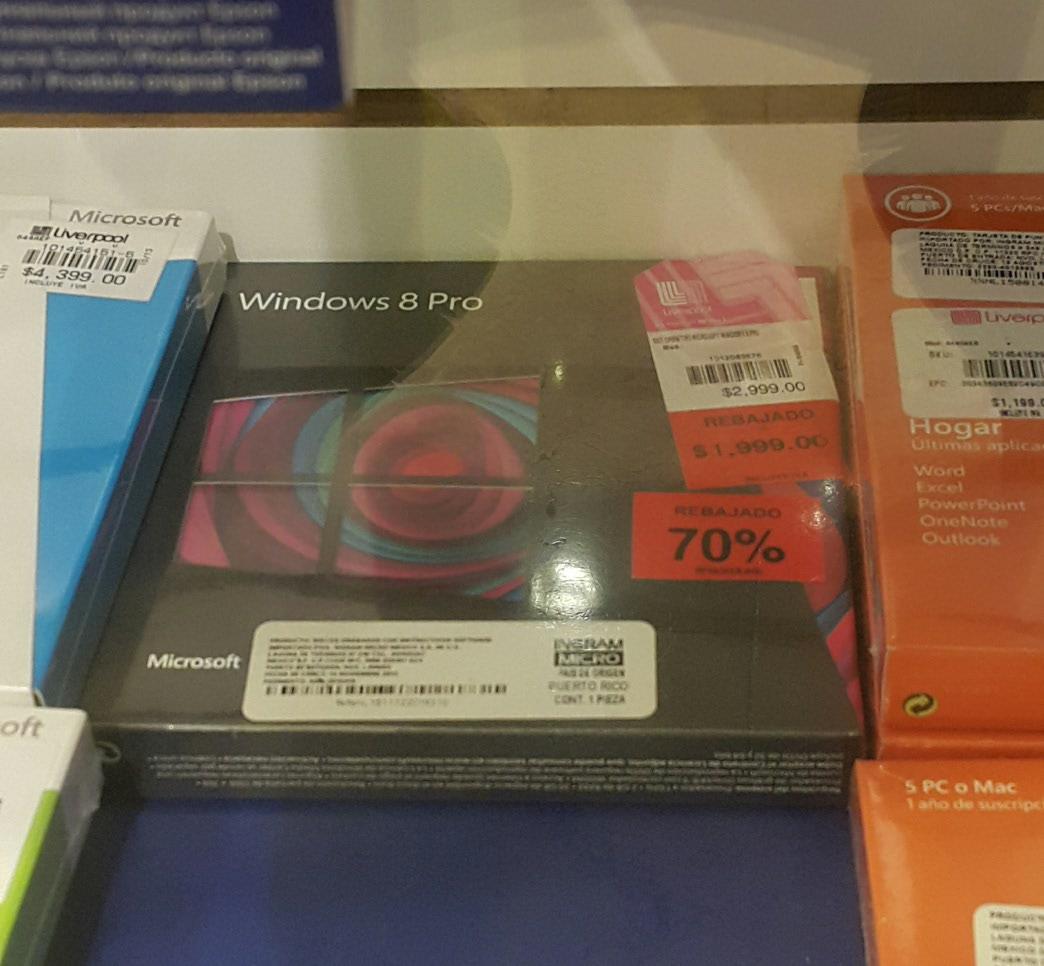 Liverpool: Windows 8 Pro $599