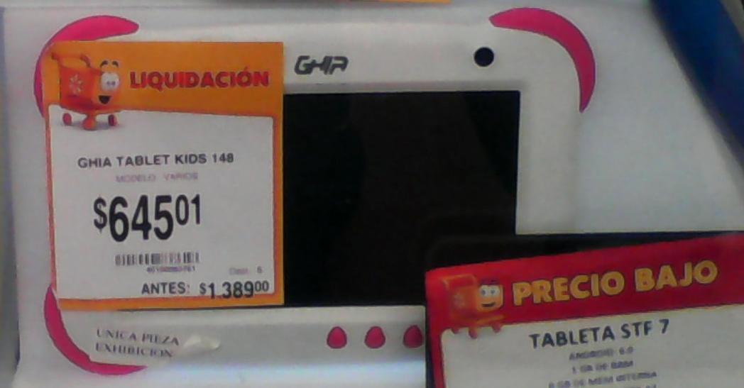Walmart: tableta marca ghia kids