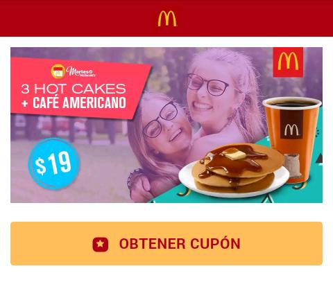 Martes de desayunos en McDonald's: hot cakes + café a $19