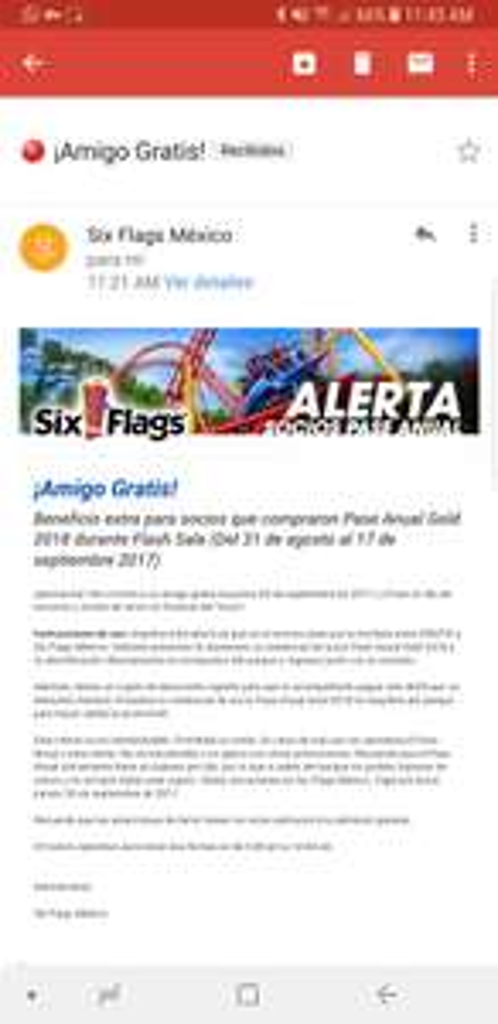 Six Flags: amigo gratis para los que compraron pase anual 2018