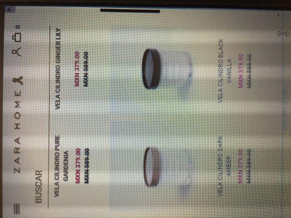 Zara Home: Velas cilindro en promoción